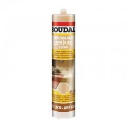 Sellador acrilico para madera SOUDAL color HAYA