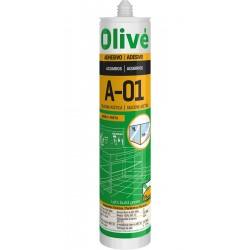 SILICONA ACUARIOS OLIVE A-01