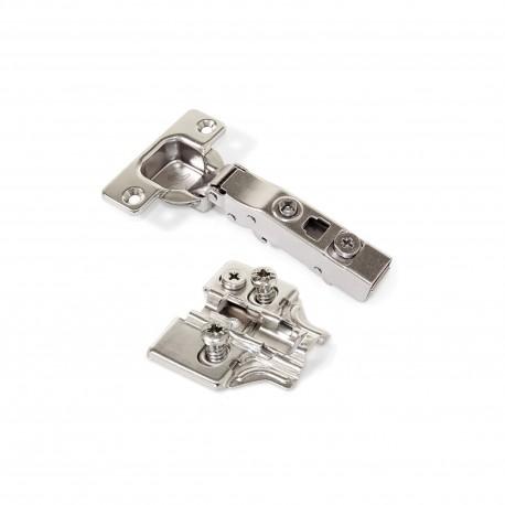 Emuca Bisagra de cazoleta X91, cierre suave, apertura 100º, suplemento Euro