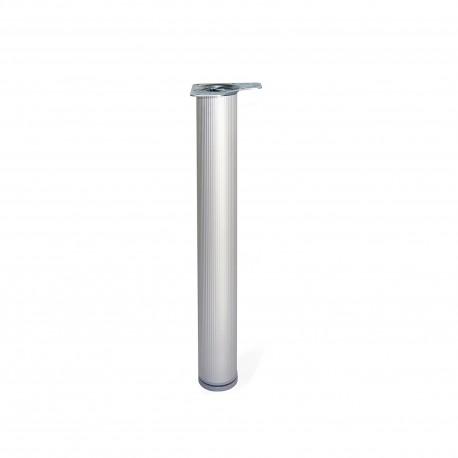 Emuca Pata regulable para mesa, D. 80 mm, Aluminio