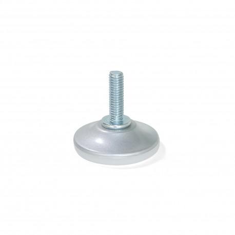Emuca Pie nivelador para mueble con base circular, M6