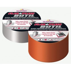 Banda impermeabilizante autoadhesiva butilo color aluminio FIJA+PLUS BUTIL
