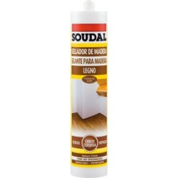 Sellador acrilico para madera SOUDAL color Nogal
